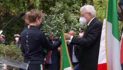 Olimpiadi: i portabandiera italiani hanno ricevuto il vessillo da Mattarella