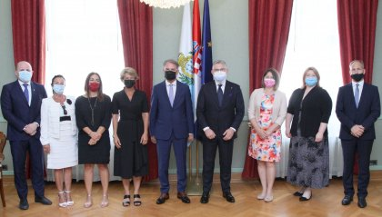 Delegazione della Commissione Affari Esteri in visita alla Commissione Croata