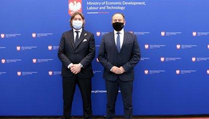 Turismo: un nuovo rapporto di collaborazione tra San Marino e Polonia al centro del bilaterale tra il Segretario Federico Pedini Amati e il Ministro Andrzej Gut-Mostowy.
