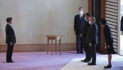 Tokyo: i Capitani Reggenti ricevuti dall'imperatore Naruhito con gli altri Capi di Stato [fotogallery]