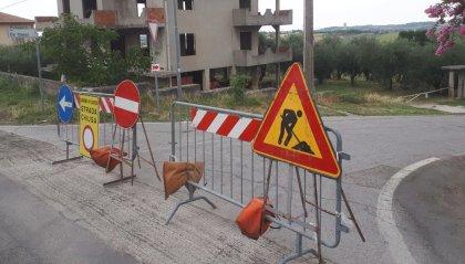 Lavori in corso sulle strade di Coriano