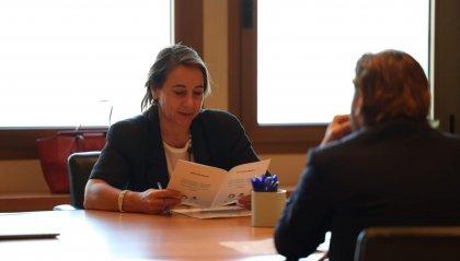 Il Segretario di Stato Federico Pedini Amati a colloquio con Alessandra Priante, Direttore dell'area Europa dell'UNWTO