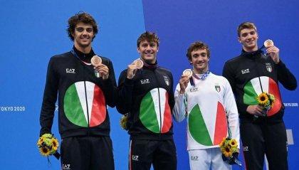 Nuoto: bronzo per l'Italia nella staffetta 4x100 mista