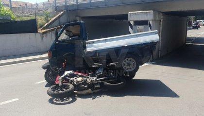 Scontro moto-Ape a Rivazzurra, due i feriti trasportati in ospedale