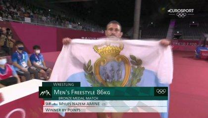 È bronzo per Myles Amine nella lotta