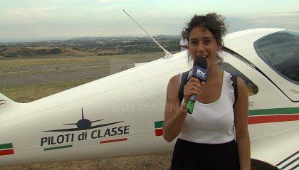 I velivoli del Tour Italy atterrano all'aerodromo di Torraccia