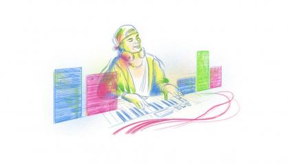 Il Doodle di Google che ricorda Avicii