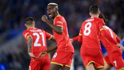 Europa League, Leicester-Napoli 2-2: doppietta di Osimhen per la rimonta
