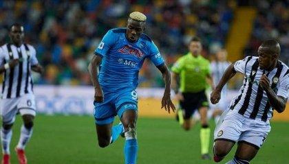 Udinese - Napoli 0-4, gli azzurri soli in testa