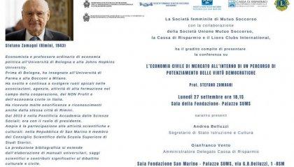 Sums, conferenza del Prof. Zamagni sull'economia di mercato