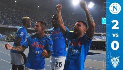 Napoli: 6 su 6, battuto il Cagliari, di nuovo in vetta alla classifica