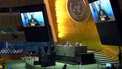 Intervento del Segretario di Stato per gli Affari Esteri Luca Beccari alla 76° sessione dell'Assemblea Generale delle Nazioni Unite