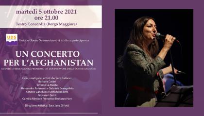 """""""Un concerto per l'Afghanistan"""" al Teatro Concordia"""