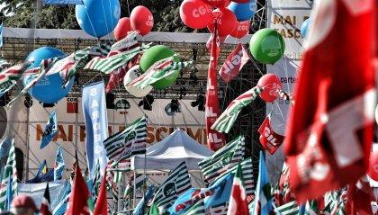 """Manifestazione sindacati a Roma: Landini, """"è una giornata che unisce il Paese"""""""