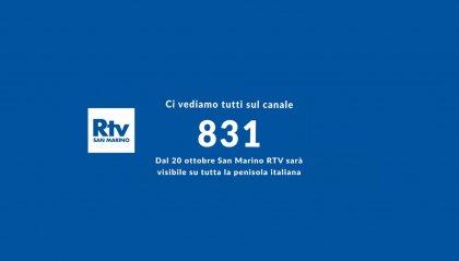 Passaggio ultimato, San Marino Rtv sbarca sul nazionale: visibile sul canale 831