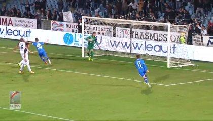 Il Cesena torna secondo col 2-1 sul Pontendera