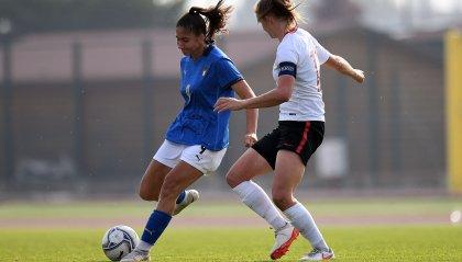Chiara Beccari a segno con l'Under 19 nel 4-0 alla Polonia