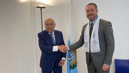 Il Presidente della FICTS – Fédération Internationale Cinéma Télévision Sportifs ricevuto questa mattina dal Segretario allo Sport Teodoro Lonfernini.