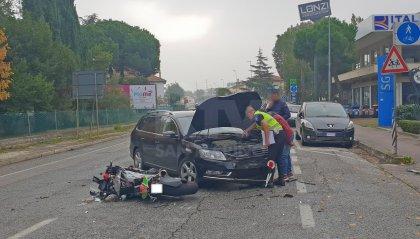 """Scontro auto-moto a Riccione, 44enne trasportato al """"Bufalini"""" in eliambulanza"""