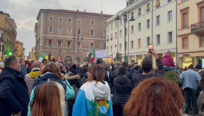 Manifestazione no green pass a Rimini