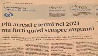 """Criminalità: Rimini terza nella classifica del Sole 24 Ore. Sadegholvaad: """"Da noi denunce in costante calo dal 2013"""""""