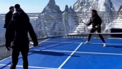 Il palleggio più alto del mondo sul Monte Bianco