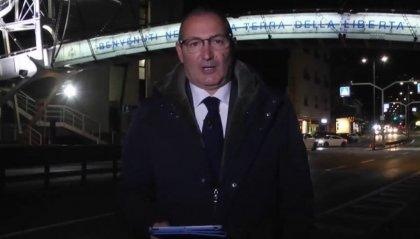 Protesta green pass: conduttore di Fano Tv lancia il Tg dal confine di San Marino