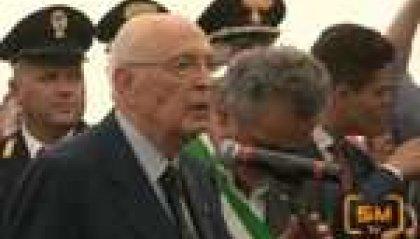 """Terremoto. Napolitano in Emilia: """"Lo Stato è qui"""""""