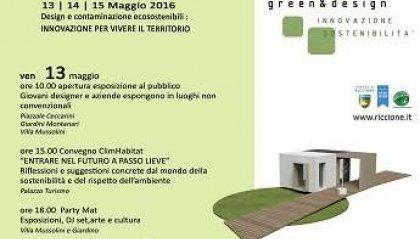 """Innovazione e sostenibilità, a Riccione c'è """"Green & Design"""""""